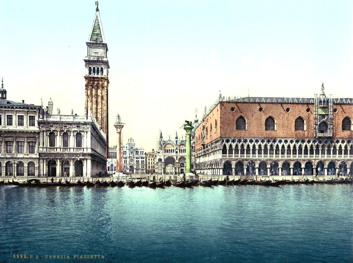 Венеция в цветных открытках 1890 года 8