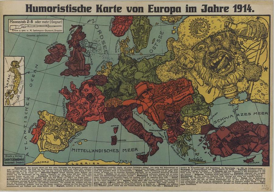 символические карты Европы 16