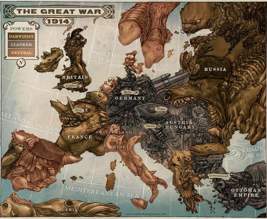 символические карты Европы 17