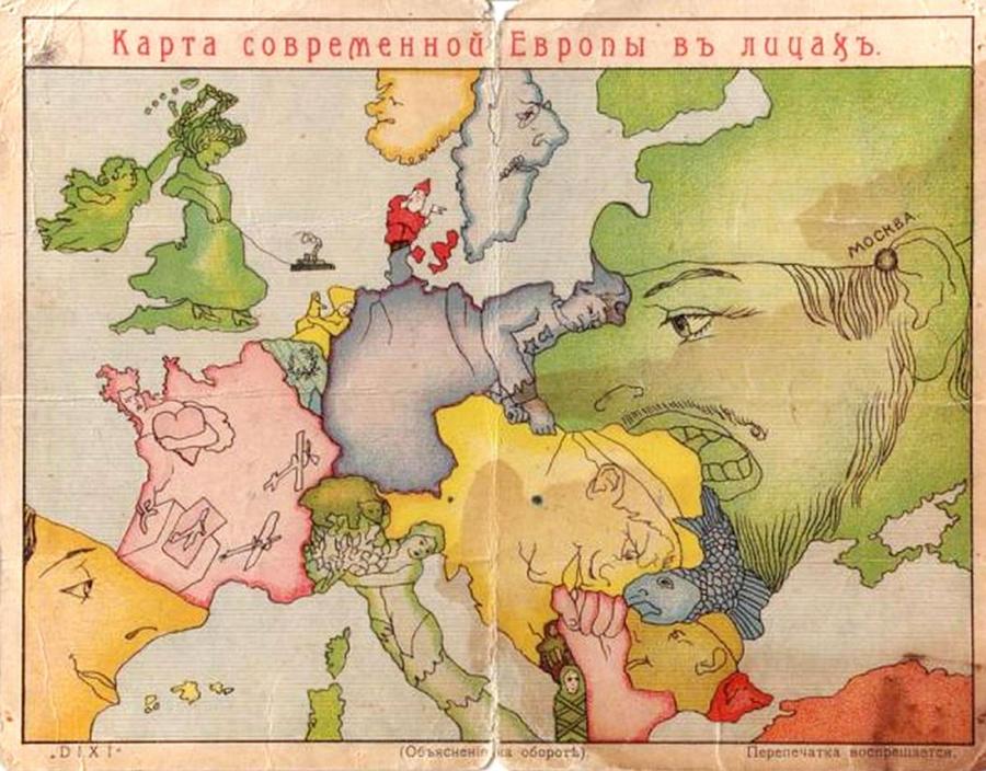 Старинные символические карты Европы: http://cameralabs.org/10890-starinnye-simvolicheskie-karty-evropy