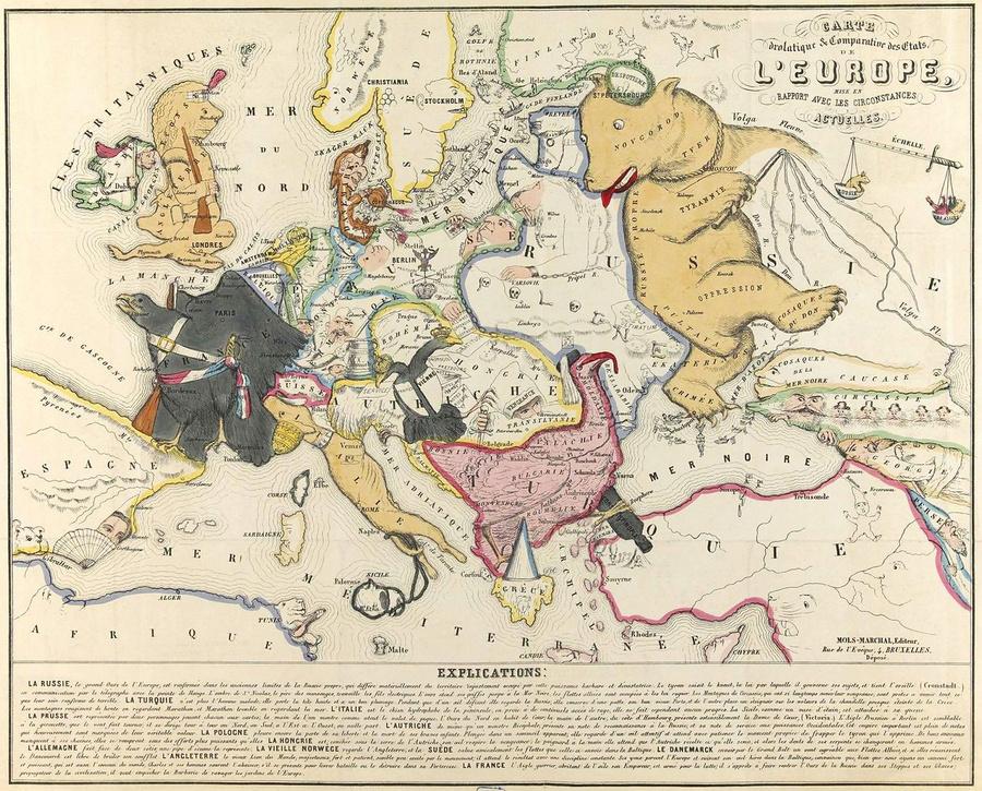 символические карты Европы 3