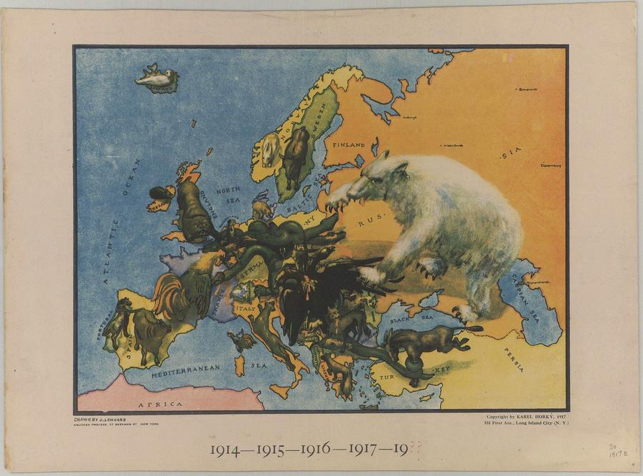 символические карты Европы 30