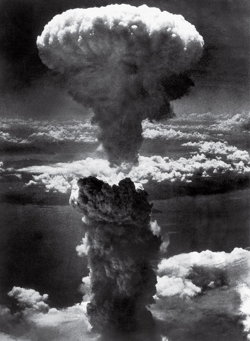 Mushroom Cloud Over Nagasaki Lieutenant Charles Levy 1945