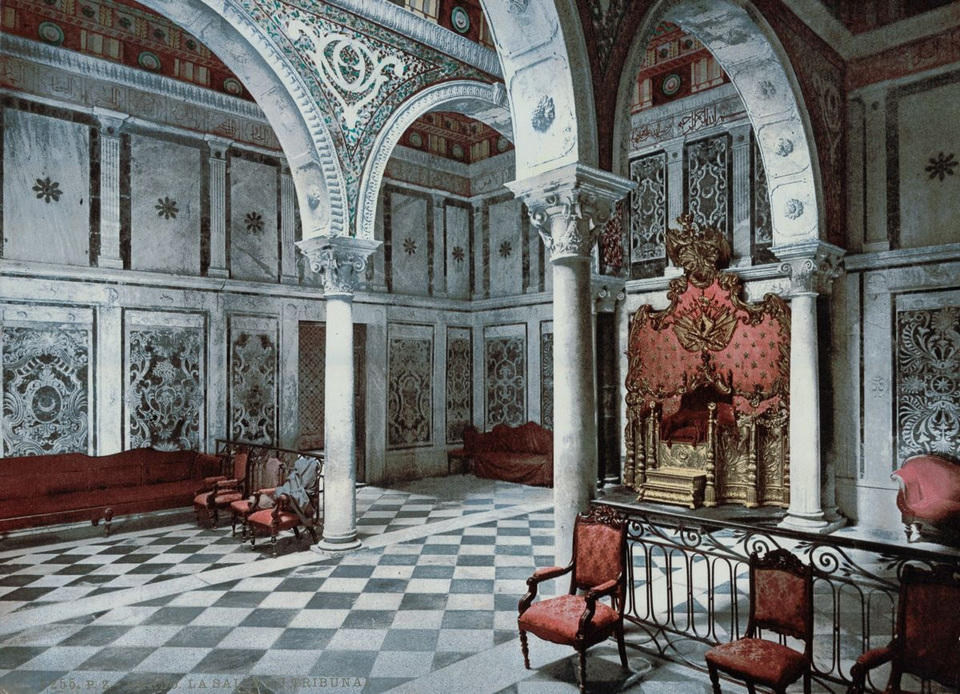 The tribunal chamber of Bardo Palace in Tunis