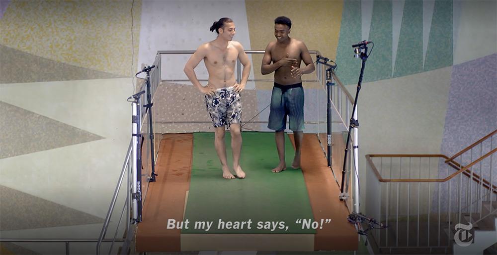«Десятиметровая вышка»: короткометражка о людях, которые борются со страхом, чтобы прыгнуть в бассейн 1