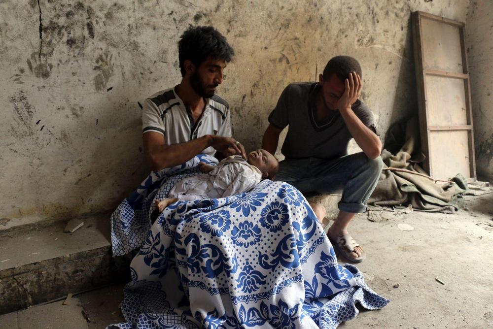 Спасаясь от завалов, Алеппо, Сирия - 7