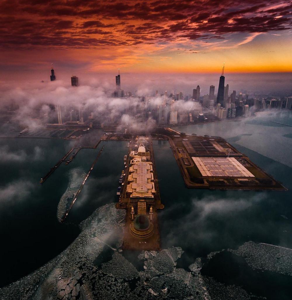 Хмурый Чикаго фотографа Майка Мейерса 7