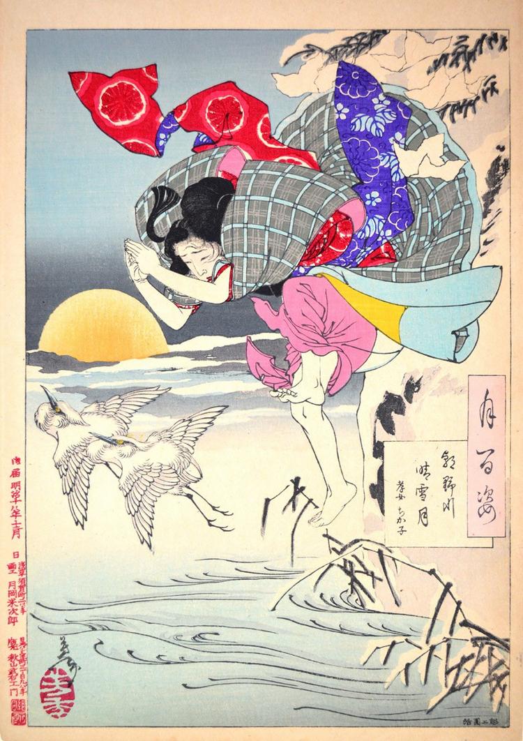 «Сто видов Луны» – величайшие гравюры мастера укиё-э Цукиока Ёситоси  2