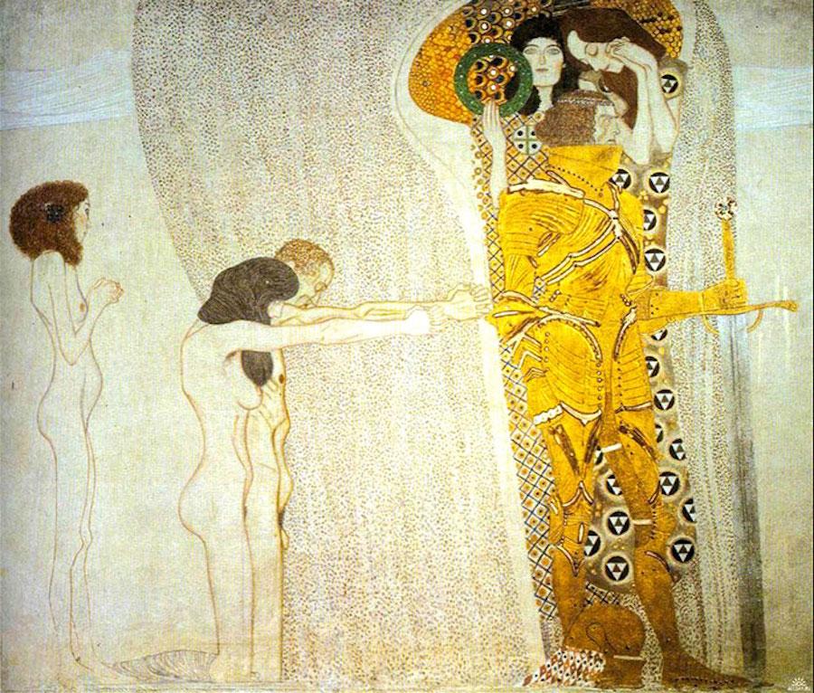 Фотограф Инге Прадер воссоздала золотые картины Густава Климта 1