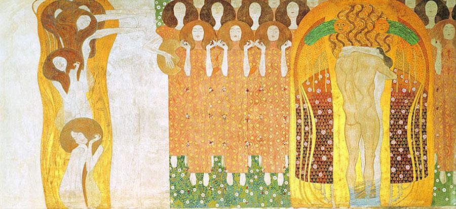 Фотограф Инге Прадер воссоздала золотые картины Густава Климта 3
