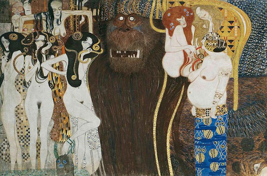 Фотограф Инге Прадер воссоздала золотые картины Густава Климта 7