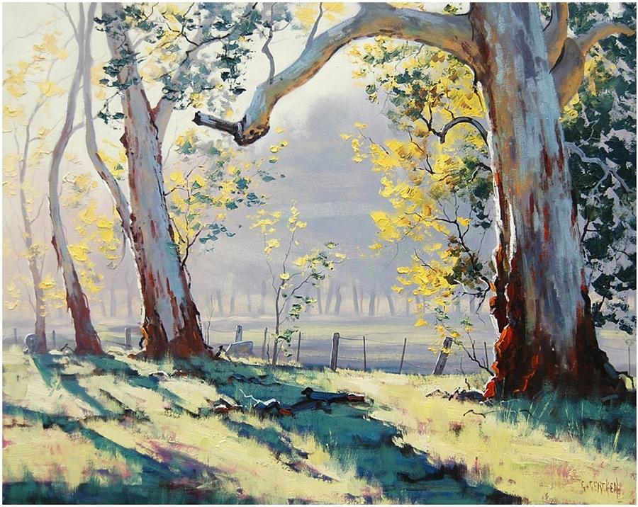 Австралийский художник Грэм Геркен пишет упоительные пейзажи любимого континента 1