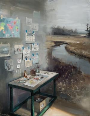 Интерьеры, соединённые с пейзажами в картинах Джереми Миранда