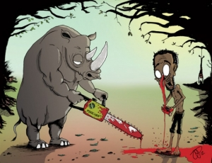 Шокирующие иллюстрации о том, как животные и люди поменялись ролями