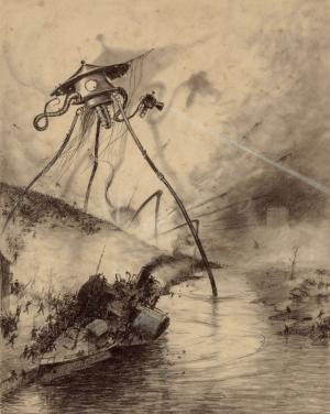 Оригинальные иллюстрации к фантастическому роману «Война миров»