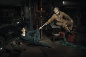 Фотопортреты автомехаников по сюжетам знаменитых картин эпохи Ренессанса