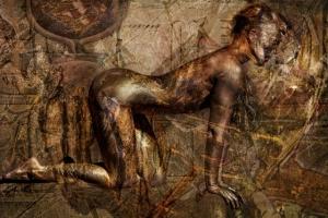 Художник Веса Кивинен объединил бодипейнтинг, живопись и фотографию. Получился новый вид искусства