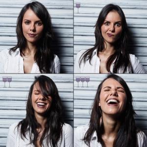 Фотопроект о том, как выглядят люди до и после нескольких бокалов вина