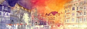 Красочные акварельные картины Майи Вронской