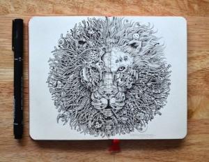 Детализированные чернильные рисунки от Керби Розанеса