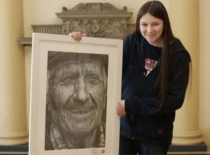 16-летняя художница и её сенсационный карандашный портрет