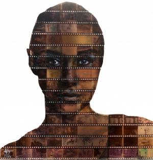 Портреты на плёночных негативах от художника Ника Джентри
