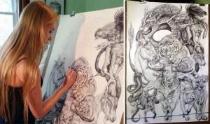 Китайский зодиак - эпическая картина 19-летней художницы