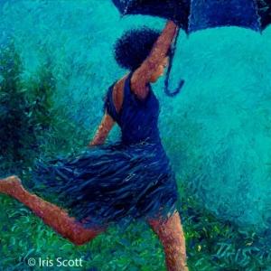 Художница Айрис Скотт виртуозно рисует пальцами