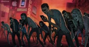 Карикатурные иллюстрации о безумствах современного мира. Художник Стив Каттс