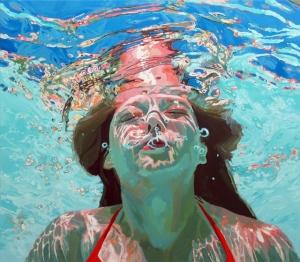 Ностальгические подводные портреты маслом от Саманты Фрэнч (Samantha French)