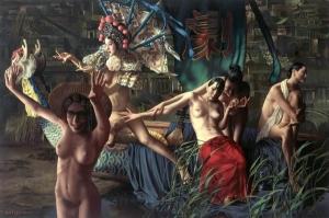 Культурная революция в картинах китайского художника Луи Лю (Lui Liu)