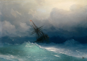 Гипнотизирующие полупрозрачные волны бушующего моря в картинах Ивана Айвазовского
