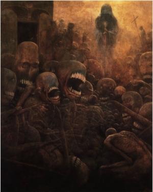 Сюрреалистические утопии в картинах Здзислава Бексиньского