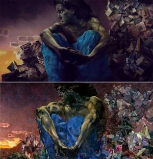 «Внутри холста»: художница перевоплотилась в персонажей картин Врубеля, Ван Гога и Пикассо