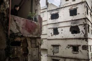 Сирийская война на улице Триполи. Фотограф Стефано де Луиджи