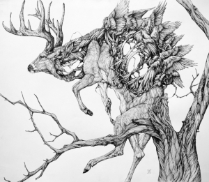 Необычные образы животных в рисунках Лорена Маркса