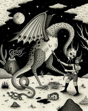 Демонические иллюстрации Джона Макнейра