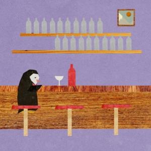 История печального Пингвина и его друга - Бутылки вина