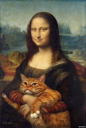 Котэ Заратустра украшает классические картины