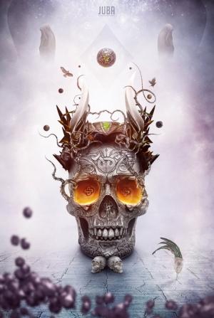 Креатив с черепами: рисунки, цифровые иллюстрации и дизайн