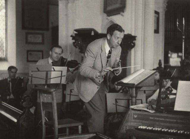 Композитор Бенджамин Бриттен, 1958. Автор Курт Хаттон