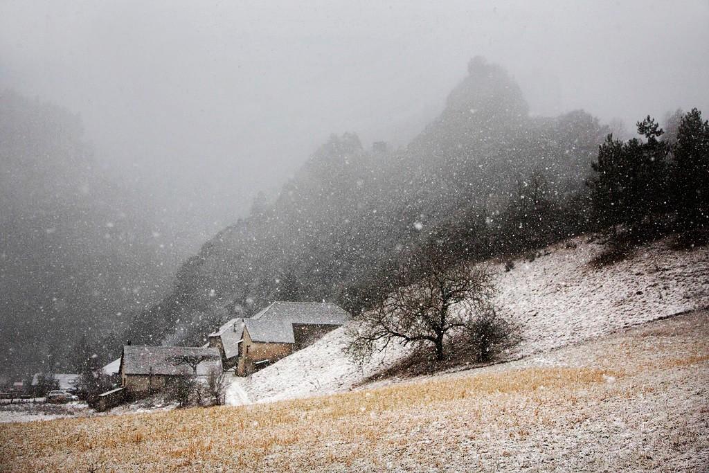 Первый снег, Веркор, Франция, 2017. Автор Кристоф Жакро