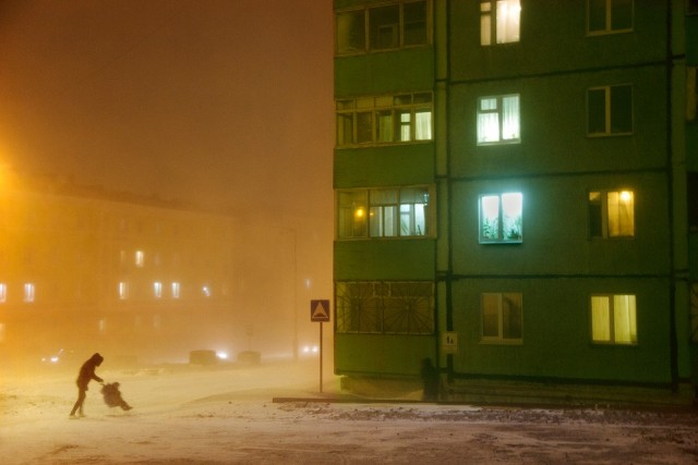 With a pram, Norilsk, 2017. Author Christoph Jacques