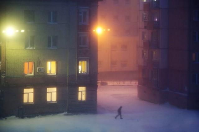 Lilac night, Norilsk, 2017. Author Christoph Jacques