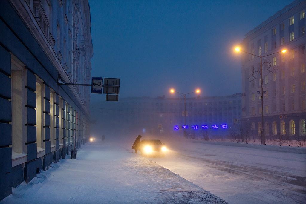 Такси, Норильск, 2017. Автор Кристоф Жакро