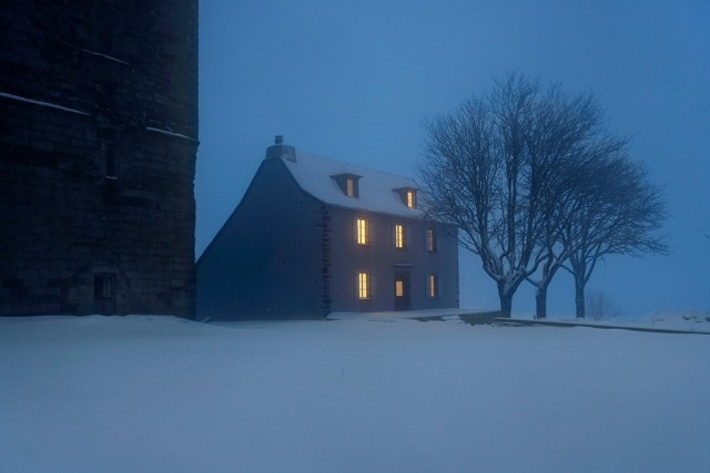 House at night.  Author Christoph Jacques