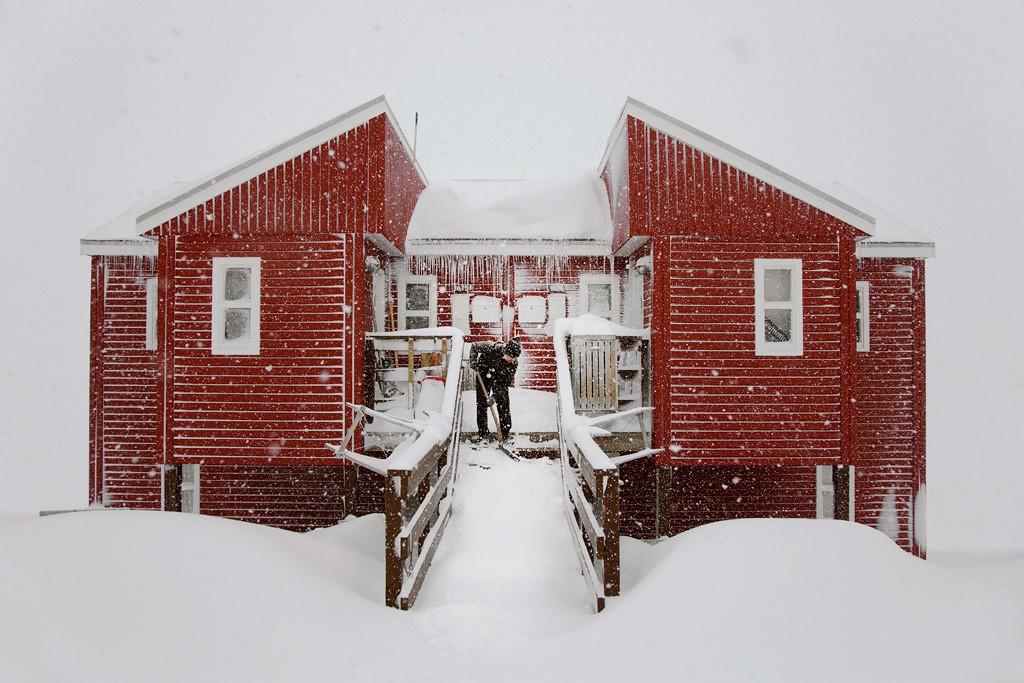 Красный дом, Гренландия, 2018. Автор Кристоф Жакро