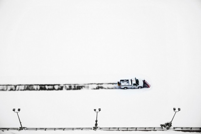 Уборка снега, Нью-Йорк, 2014. Автор Кристоф Жакро