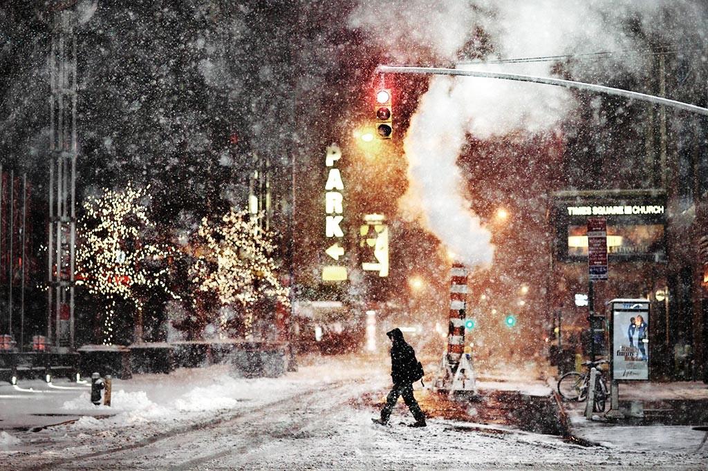 Уличные гирлянды, Нью-Йорк. Автор Кристоф Жакро