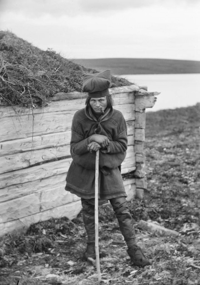 Саам, Кёутукейну, Норвегия, 1882-1883. Автор Софус Тромгольт